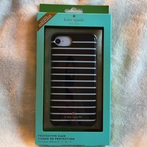 NEW Kate Spade Black & White Case iPhone 8/7/6s/6
